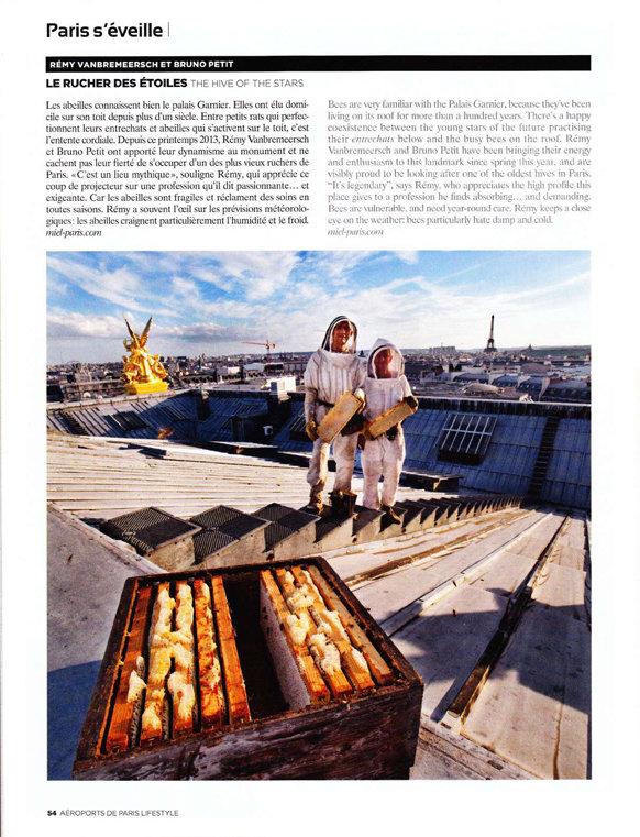 Les ruches de l'Opéra de Paris magazine ADP