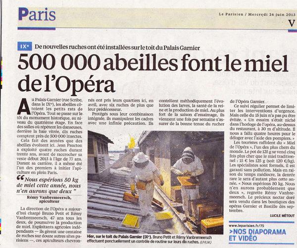 Arrivée des ruches à l'Opéra