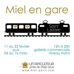 Vente de miel gare Saint Lazare
