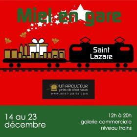 Du miel en gare St Lazare pour les fêtes de fin d'année