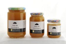 Miel de montagne, pots de 1Kg, 500g et 250g