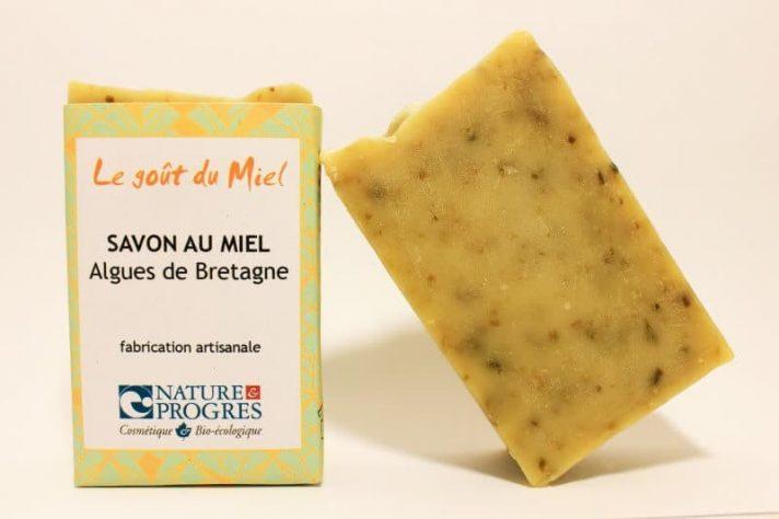 Savon à froid miel algues de Bretagne